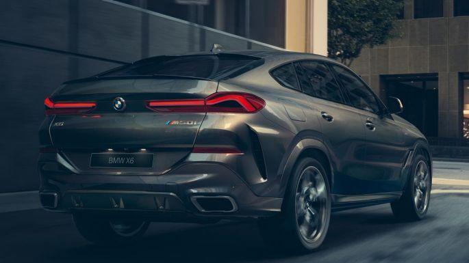 BMW X6, вид сзади с поворотом в три четверти