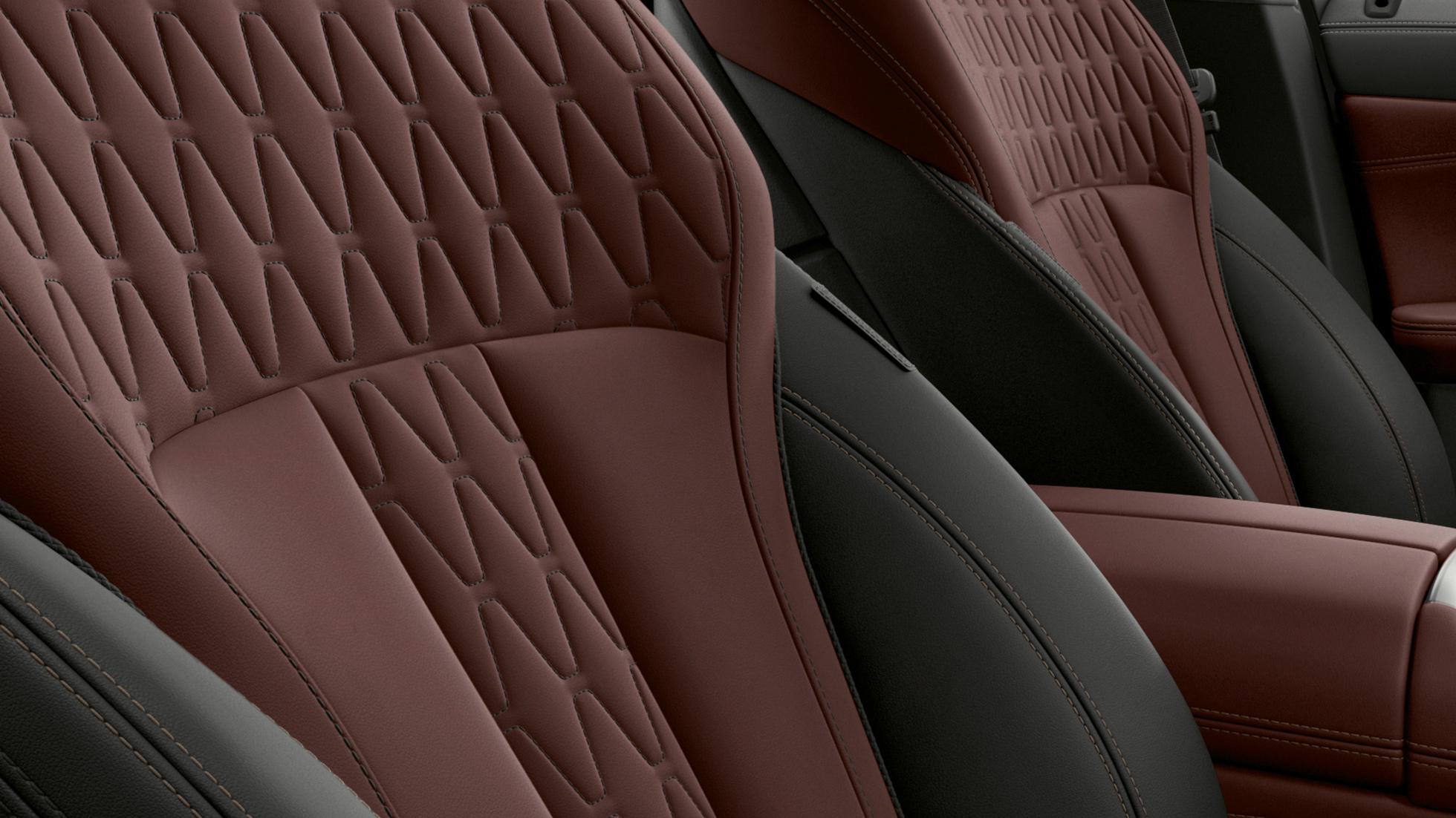 BMW X6 Individual, фотография интерьера с фокусом на отделке
