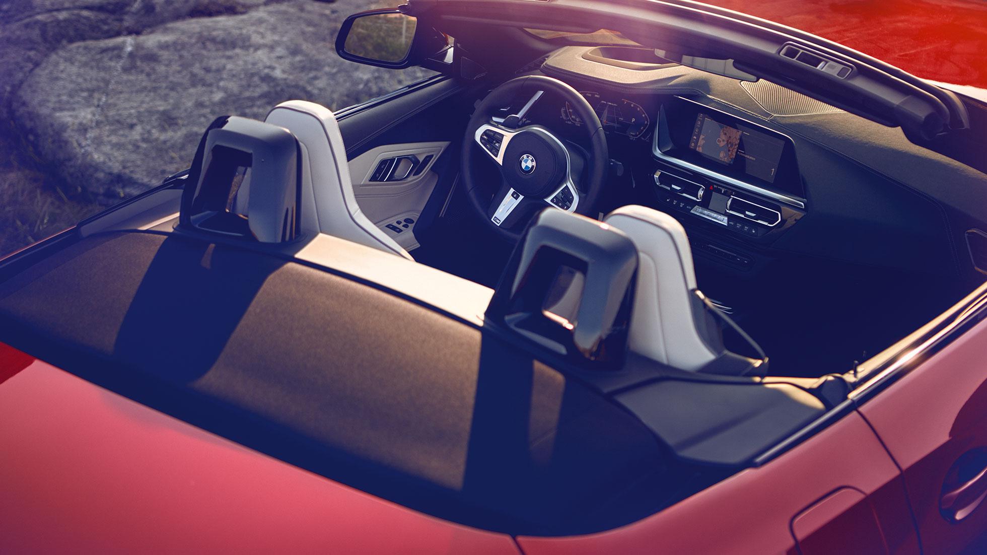 BMW Z4 Roadster, обзор передних сидений