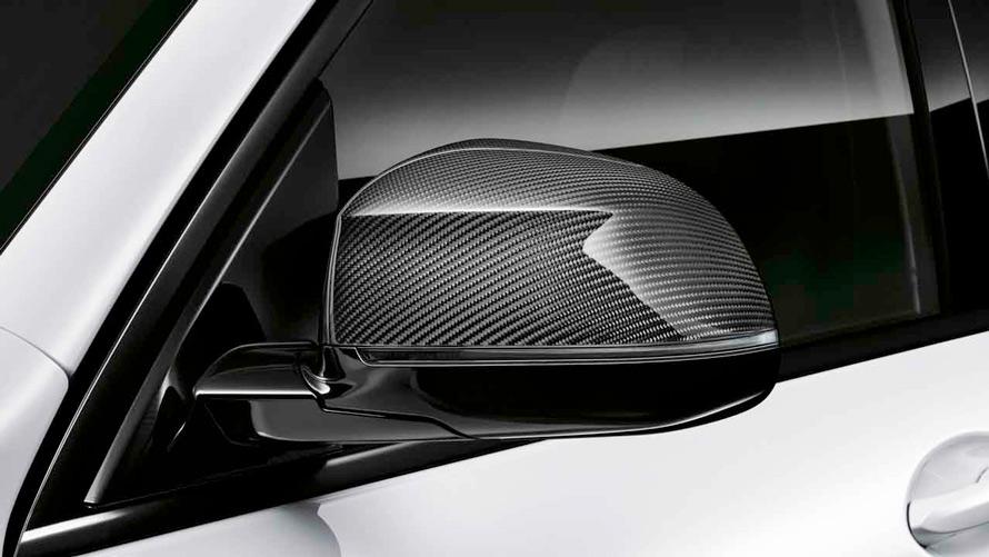 Карбоновые крышки зеркал для BMW X5 (G05), пакет M Performance, БМВ.