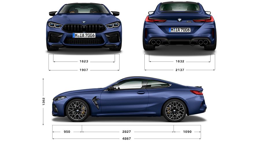 Автомобили BMW M8 Coupe : технические характеристики   BMW.ru